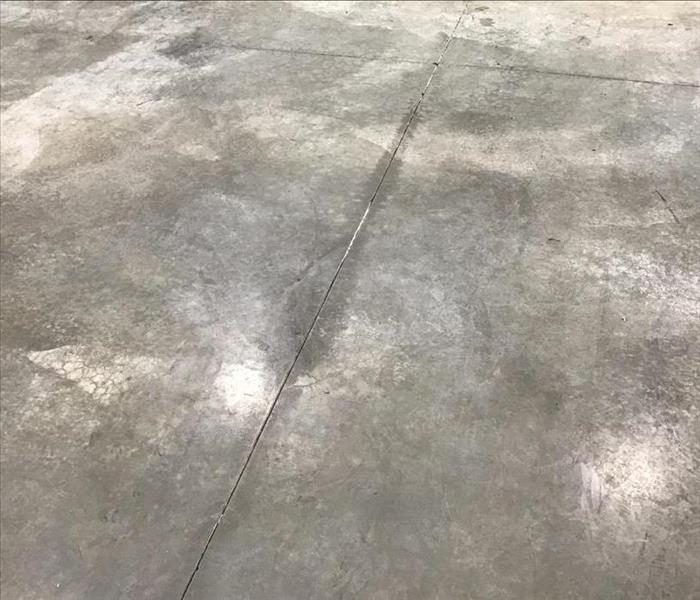 Concrete floor after cleaning