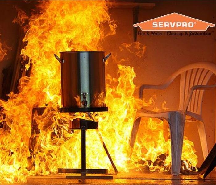 Fire Damage Dangers of Deep Frying a Turkey